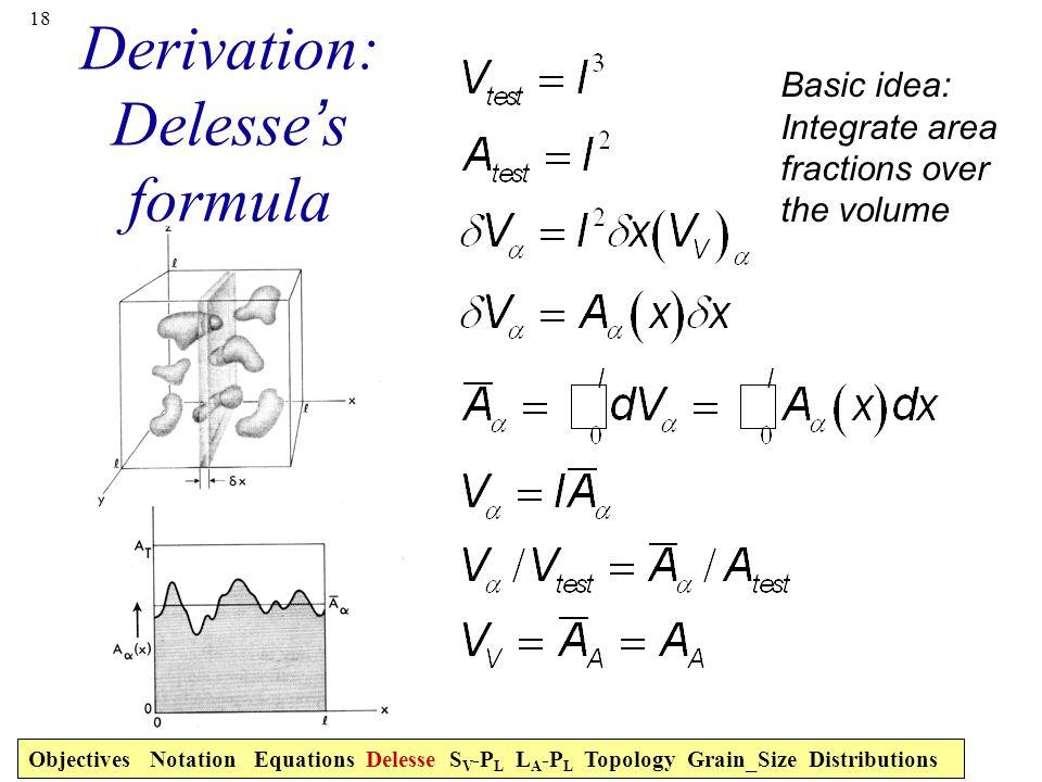 Derivation: Delesse's formula