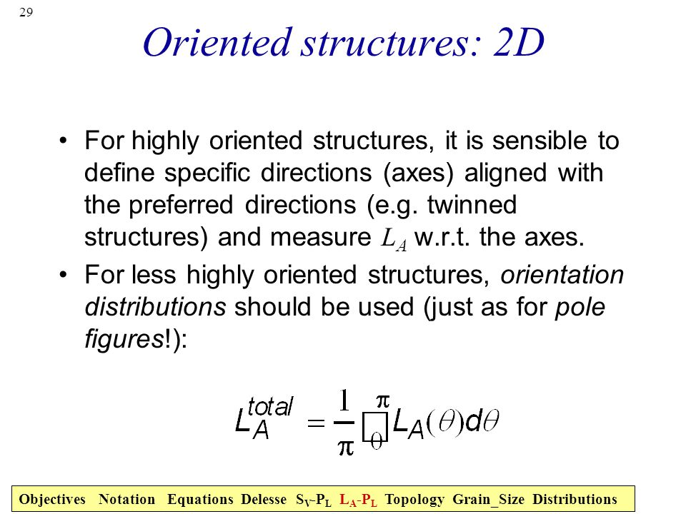 Oriented structures: 2D