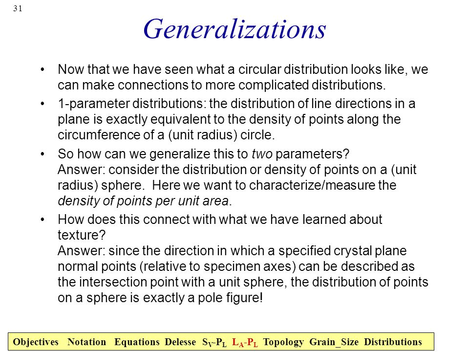 Generalizations Now that we have seen what a circular distribution looks like, we can make connections to more complicated distributions.