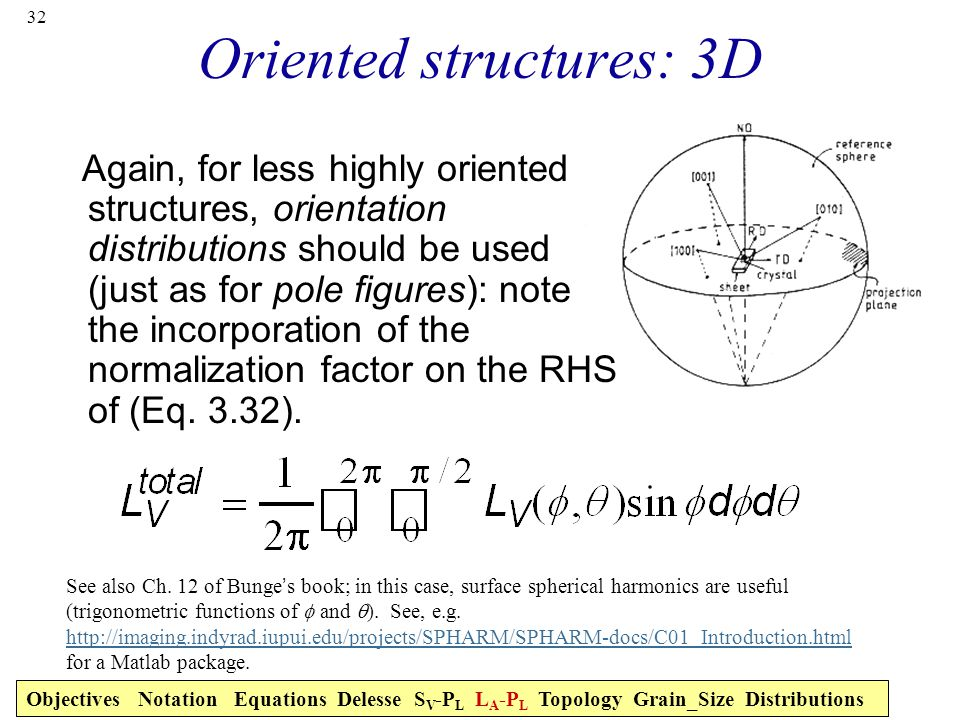 Oriented structures: 3D