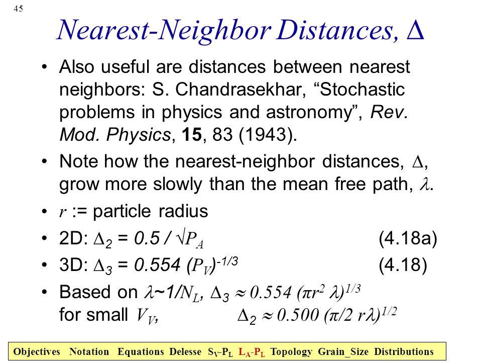 Nearest-Neighbor Distances, ∆
