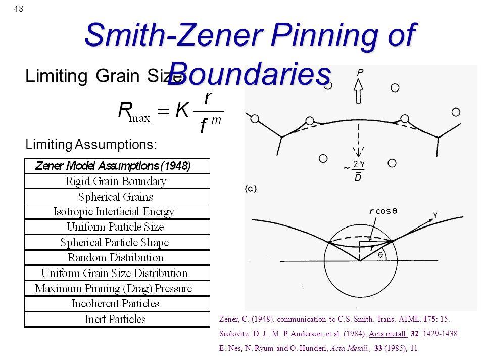 Smith-Zener Pinning of Boundaries