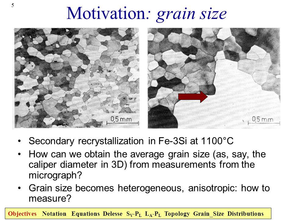 Motivation: grain size