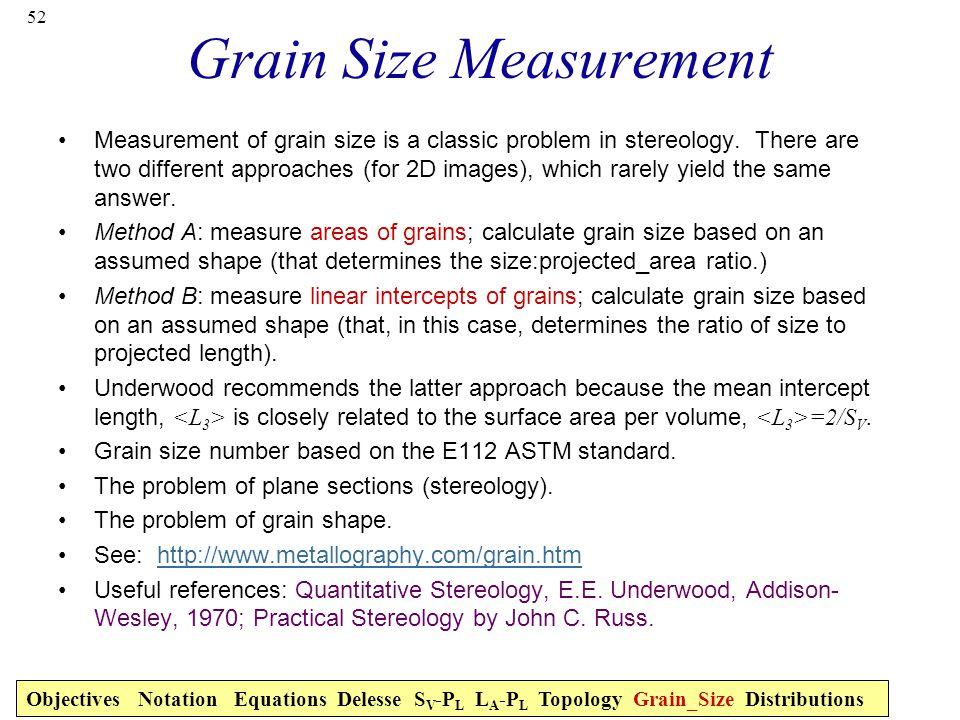 Grain Size Measurement