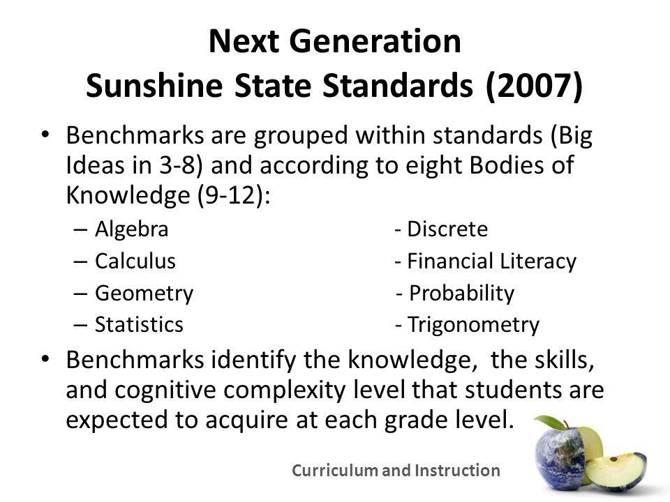 Next Generation Sunshine State Standards (2007)