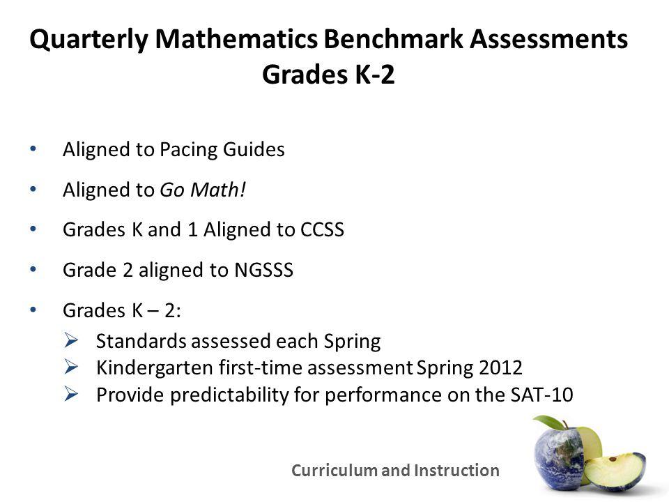 Quarterly Mathematics Benchmark Assessments