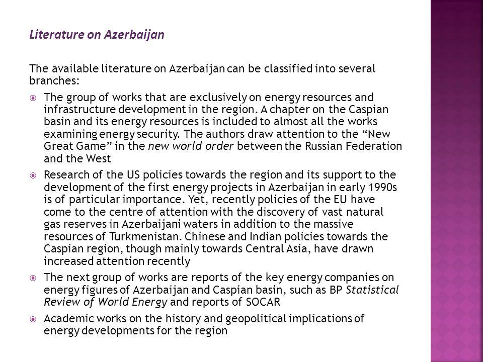 Literature on Azerbaijan