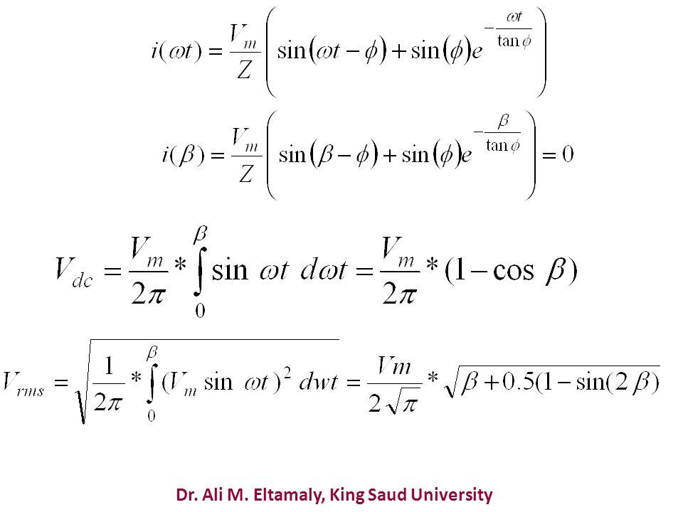 Dr. Ali M. Eltamaly, King Saud University