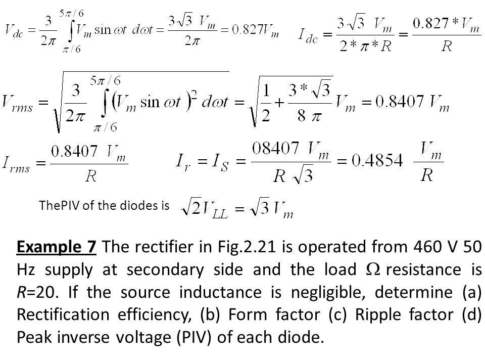ThePIV of the diodes is
