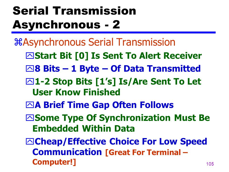 Serial Transmission Asynchronous - 2