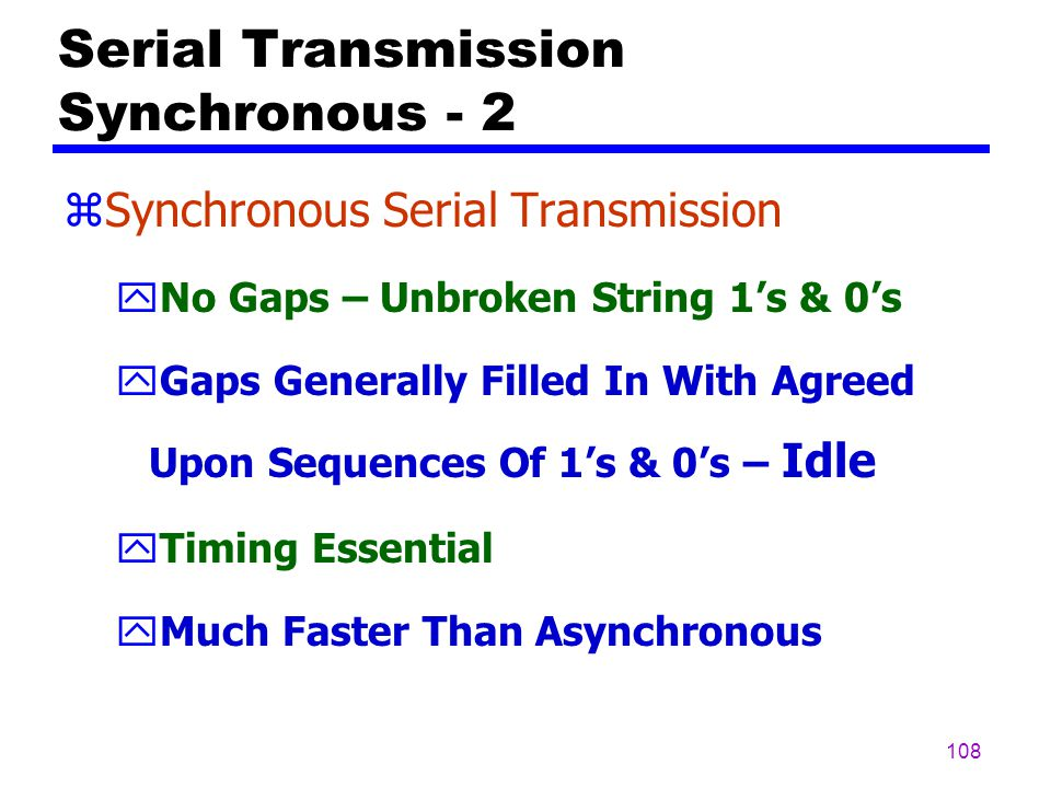 Serial Transmission Synchronous - 2