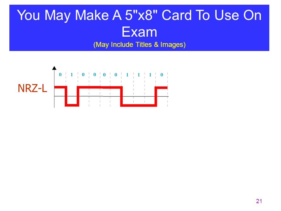 You May Make A 5 x8 Card To Use On Exam