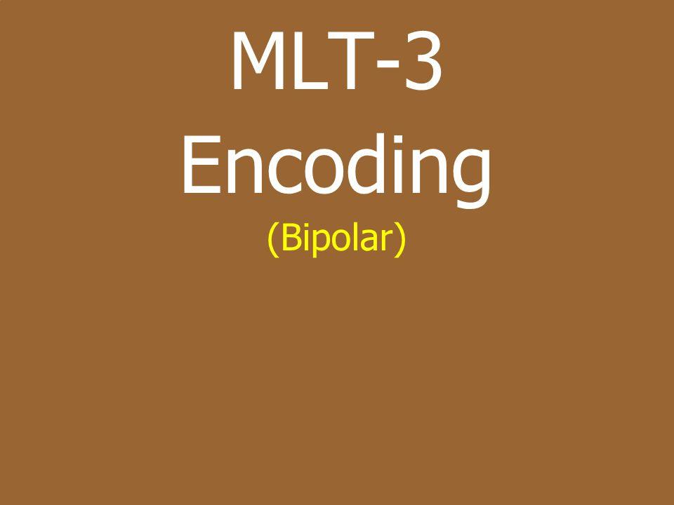 MLT-3 Encoding (Bipolar)