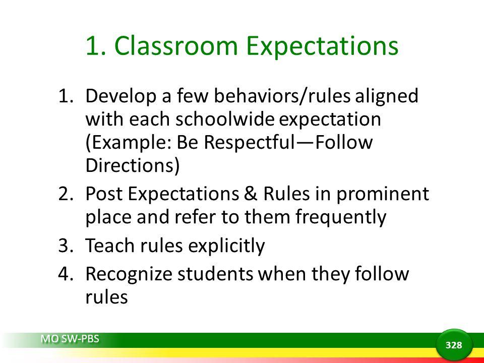 1. Classroom Expectations
