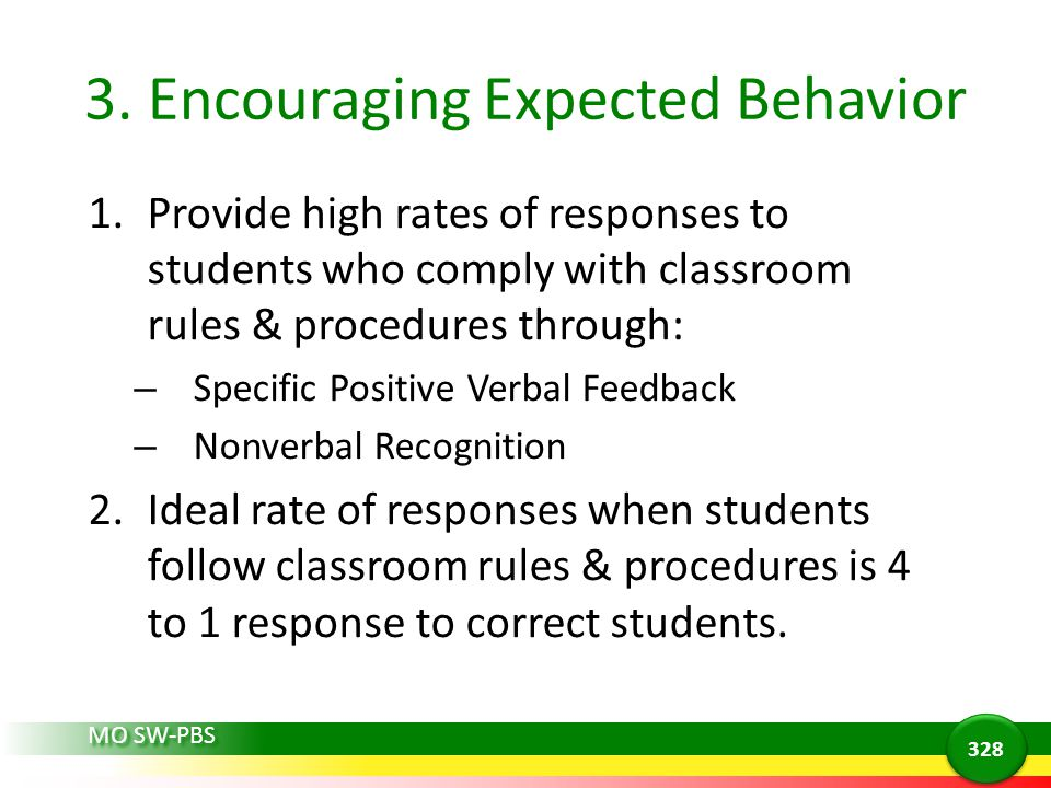 3. Encouraging Expected Behavior