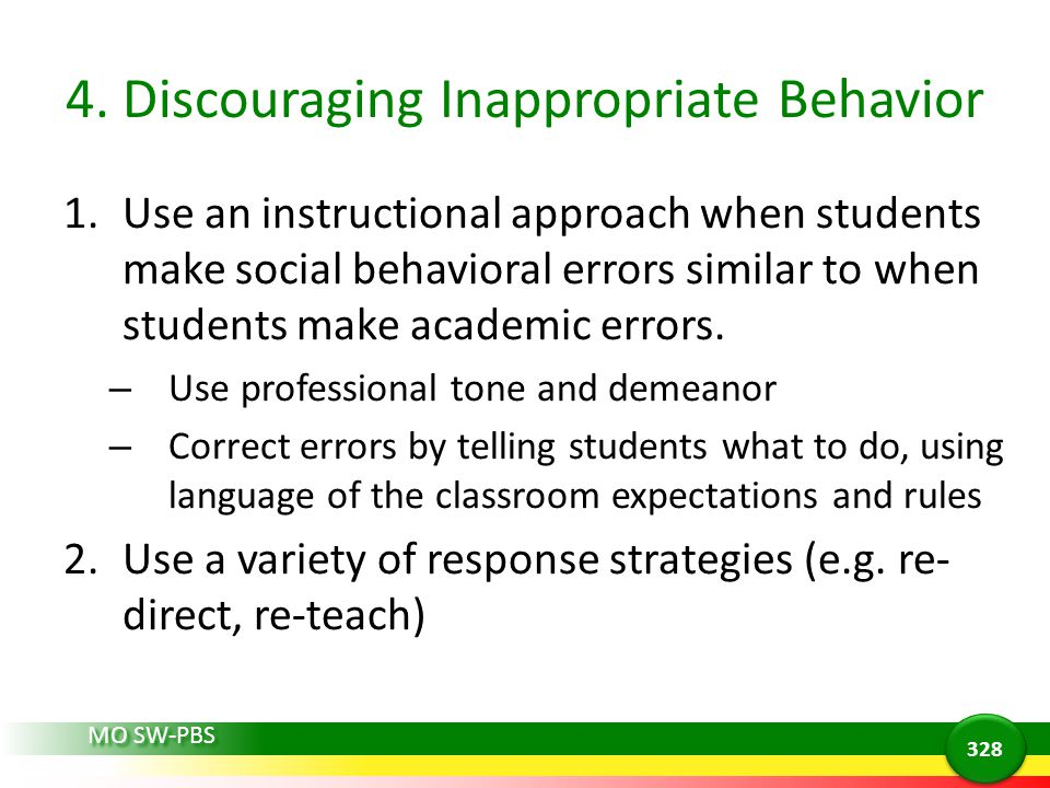 4. Discouraging Inappropriate Behavior