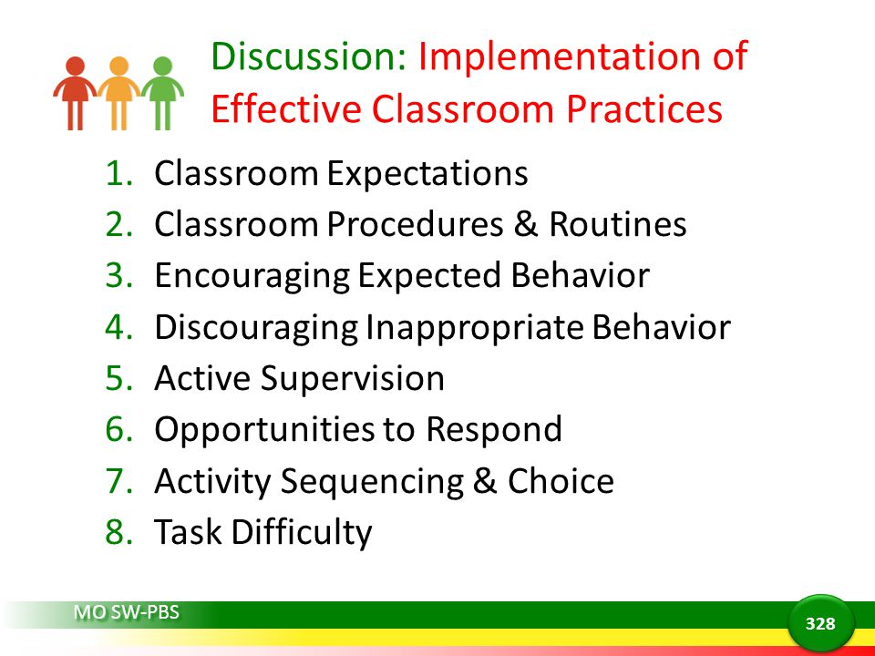Discussion: Implementation of Effective Classroom Practices