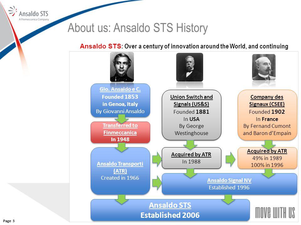 About us: Ansaldo STS History