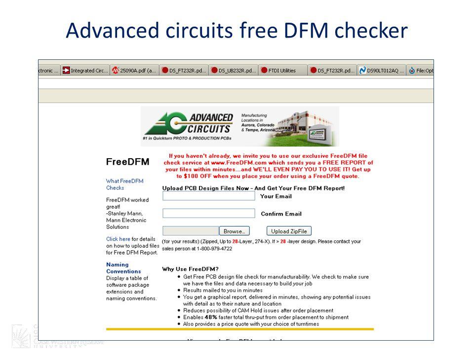 Advanced circuits free DFM checker