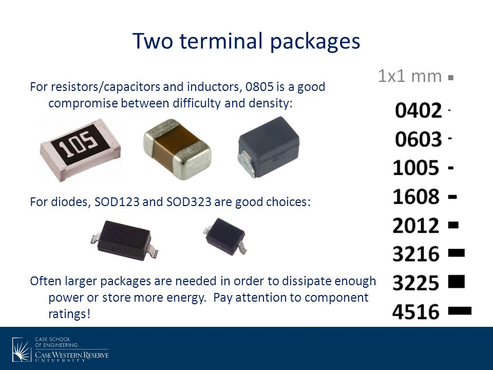 Two terminal packages