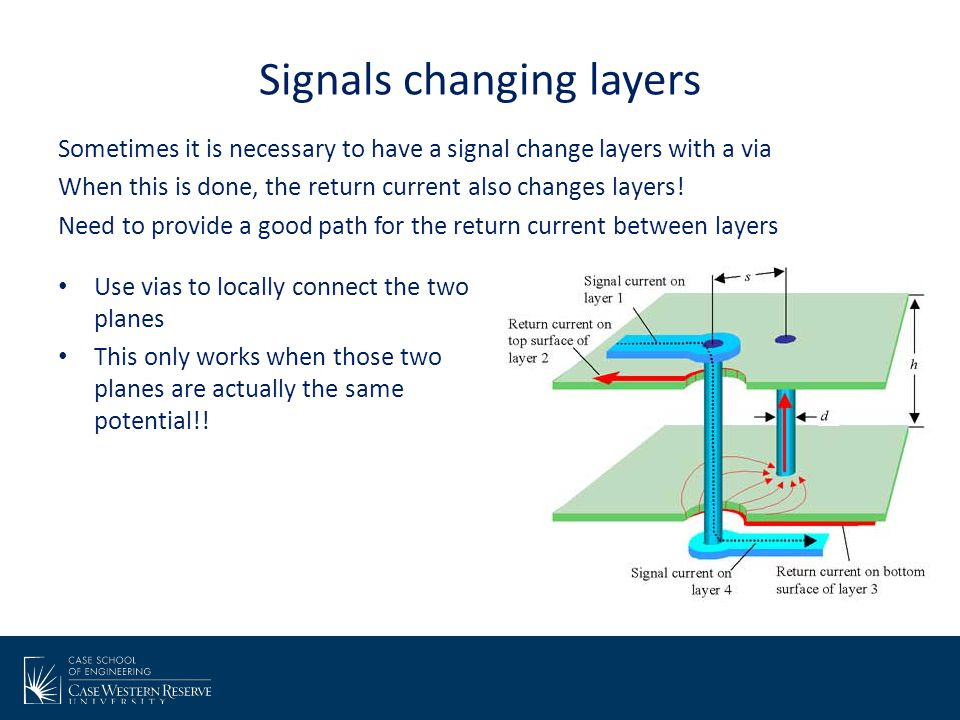 Signals changing layers