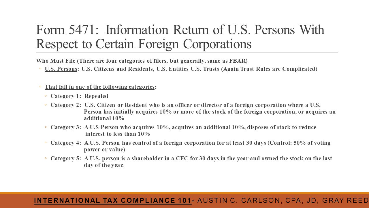 Form 5471: Information Return of U. S