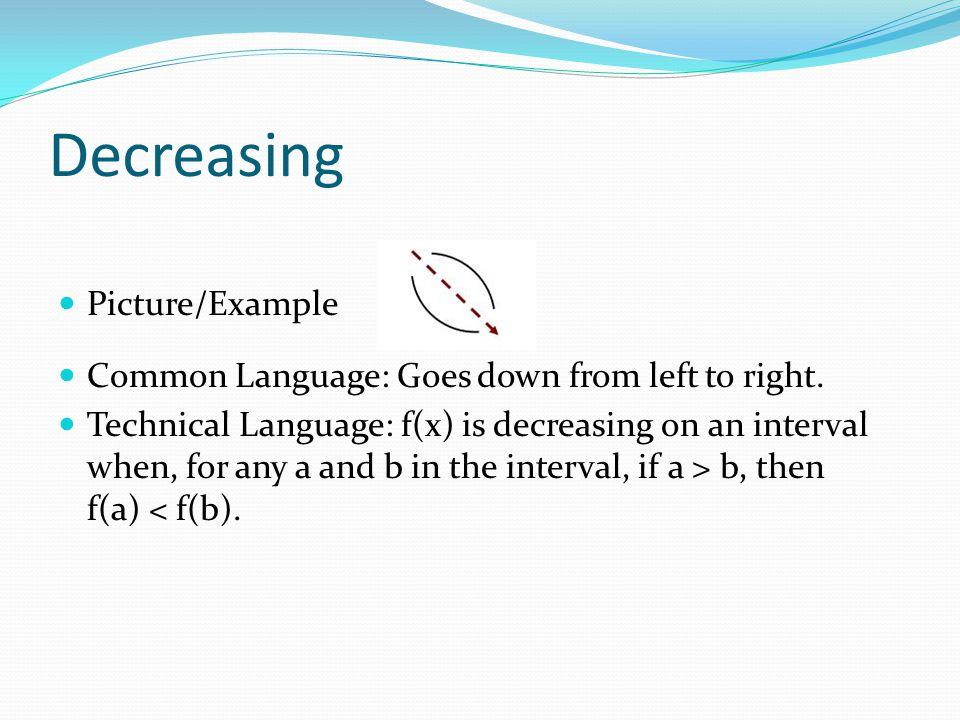 Decreasing Picture/Example