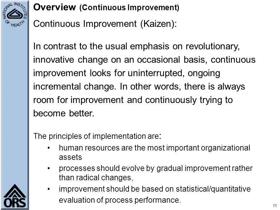 Overview (Continuous Improvement)