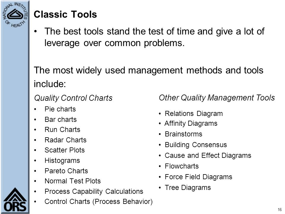 Classic Tools The best tools stand the test of time and give a lot of leverage over common problems.