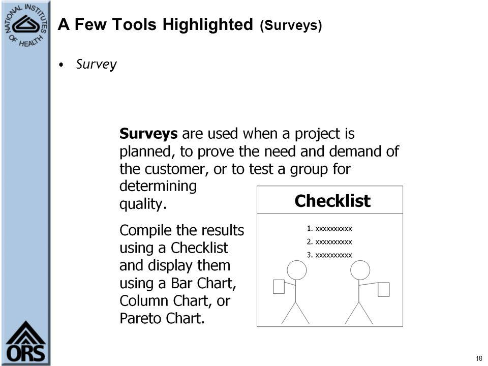 A Few Tools Highlighted (Surveys)