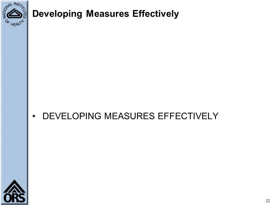 Developing Measures Effectively