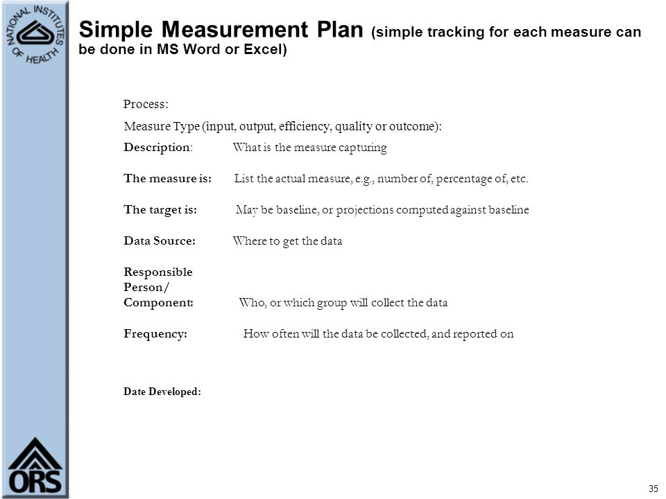 Measure Type (input, output, efficiency, quality or outcome):