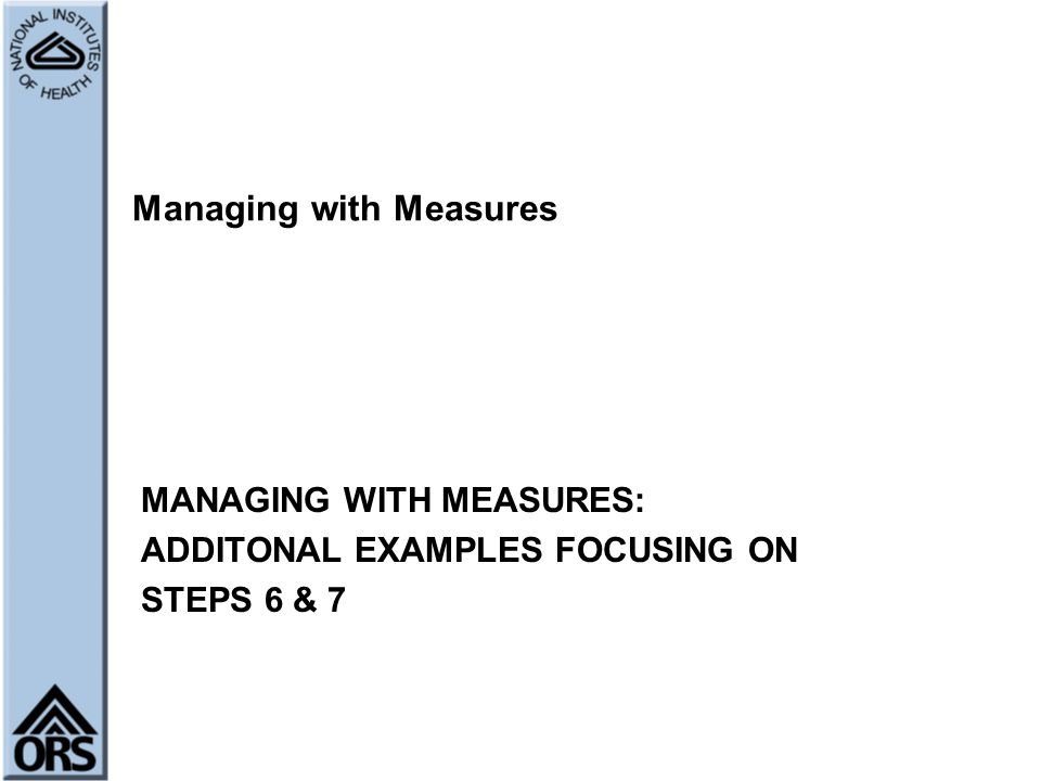 Managing with Measures