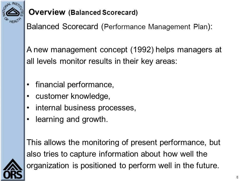 Overview (Balanced Scorecard)