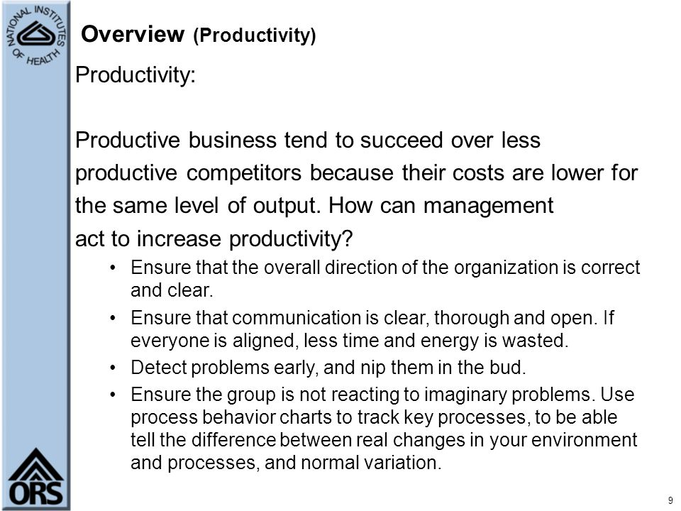 Overview (Productivity)