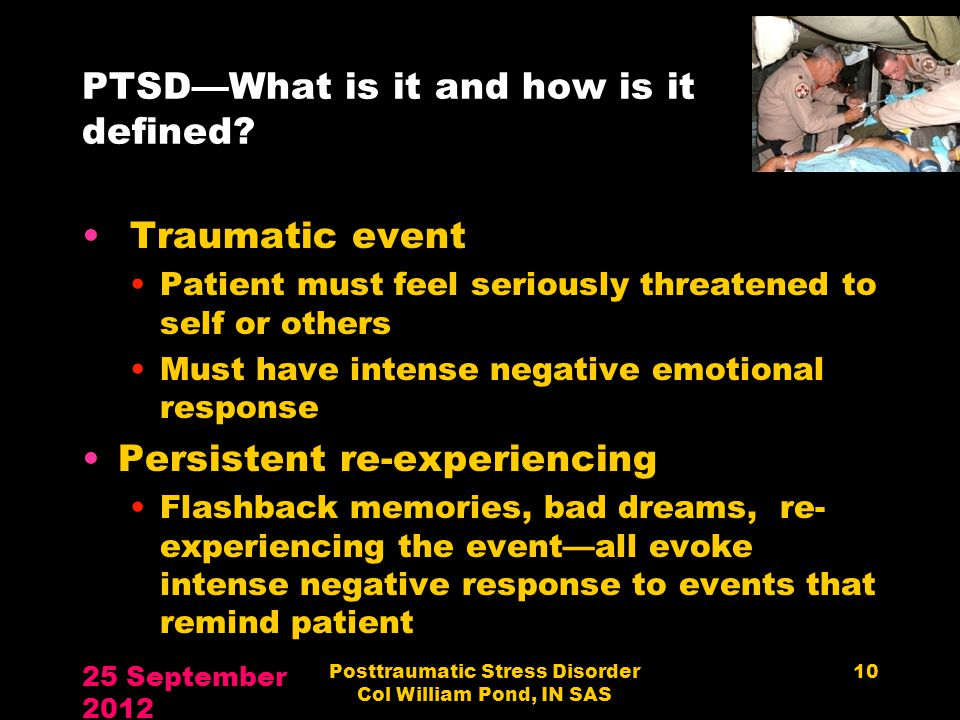 PTSD—What is it and how is it defined