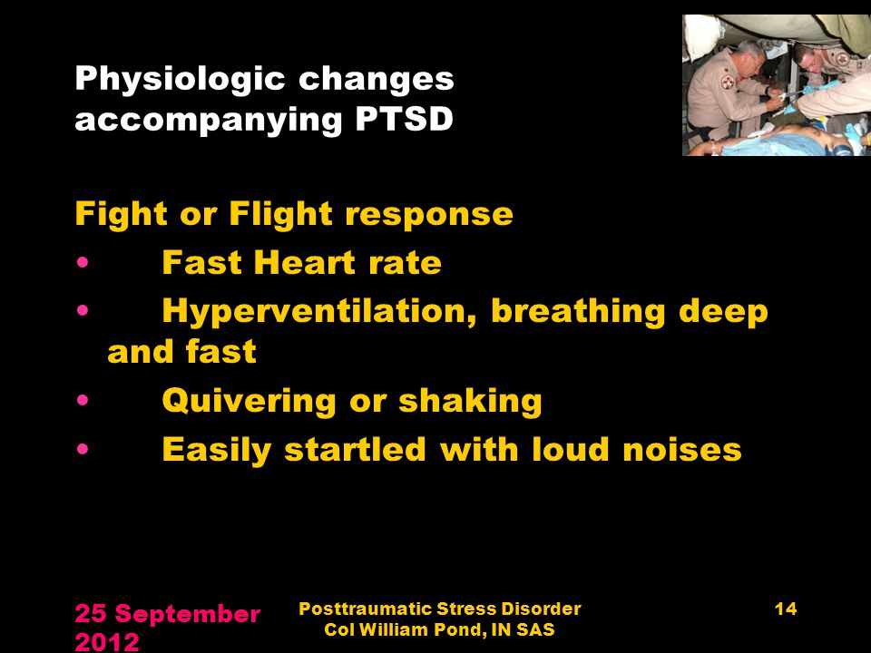 Physiologic changes accompanying PTSD