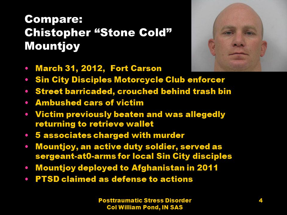 Compare: Chistopher Stone Cold Mountjoy