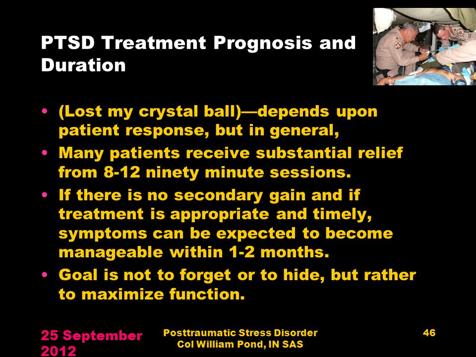 PTSD Treatment Prognosis and Duration