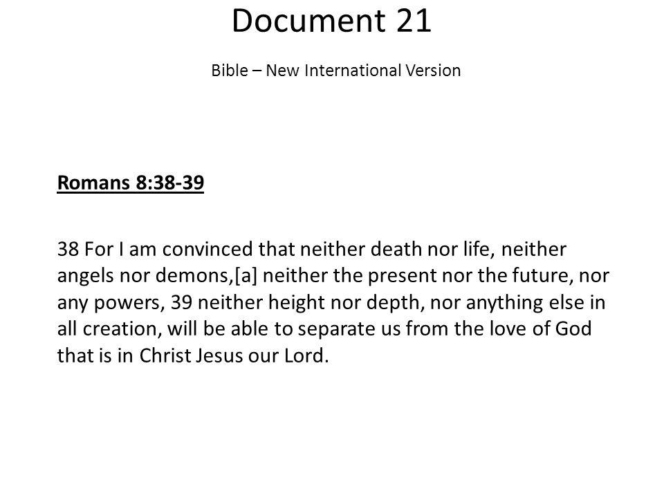 Document 21 Bible – New International Version