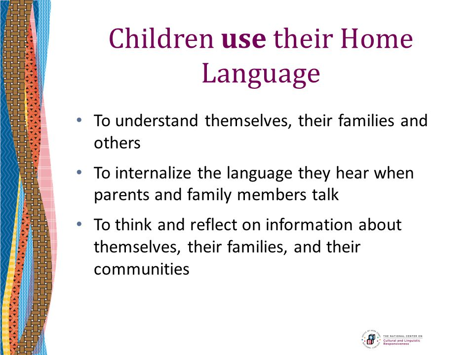 Children use their Home Language
