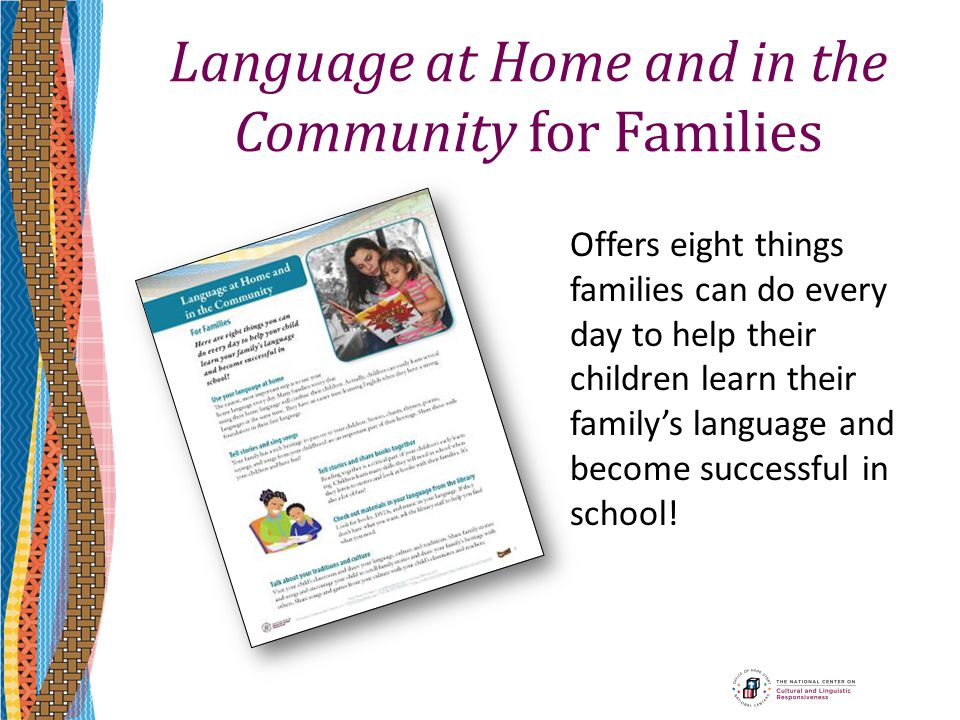 Language at Home and in the Community for Families