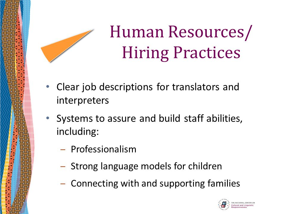 Human Resources/ Hiring Practices