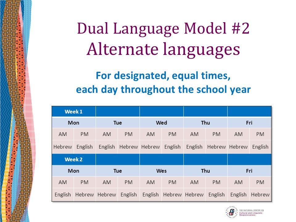 Dual Language Model #2 Alternate languages