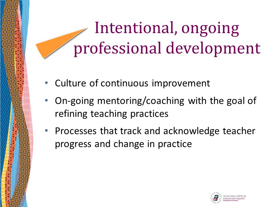 Intentional, ongoing professional development