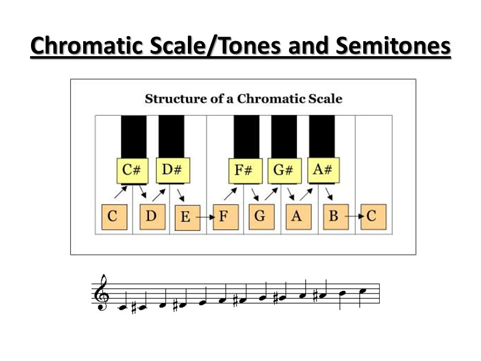 Chromatic Scale/Tones and Semitones