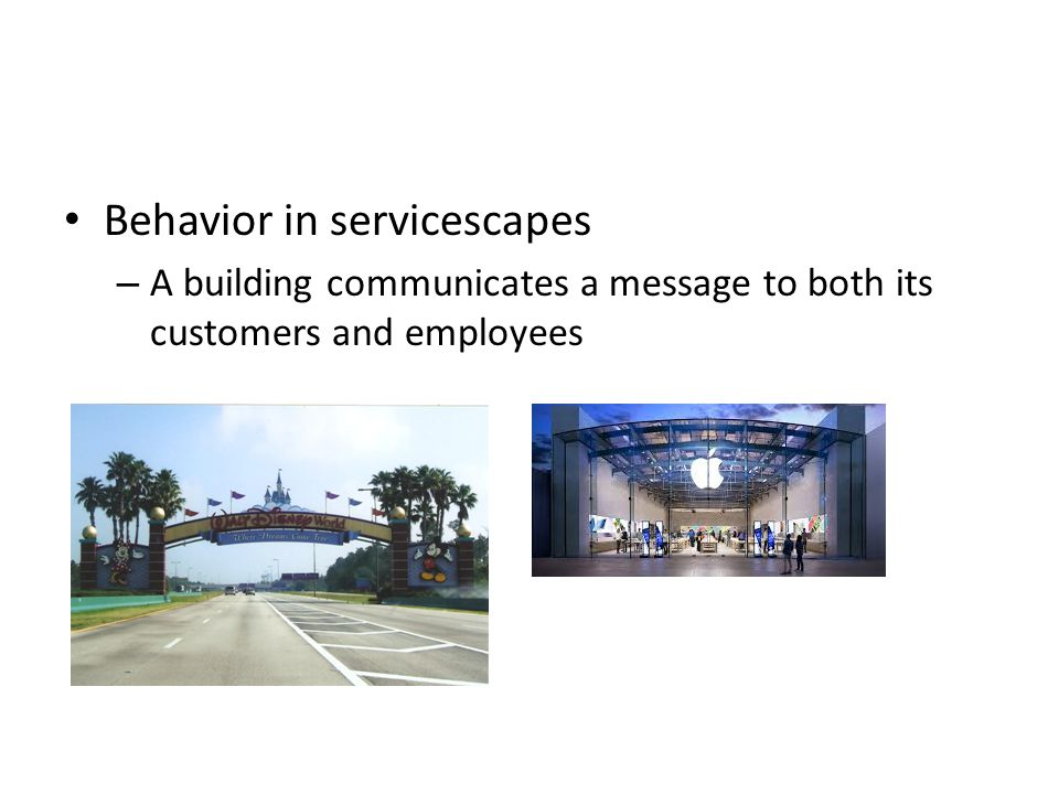Behavior in servicescapes