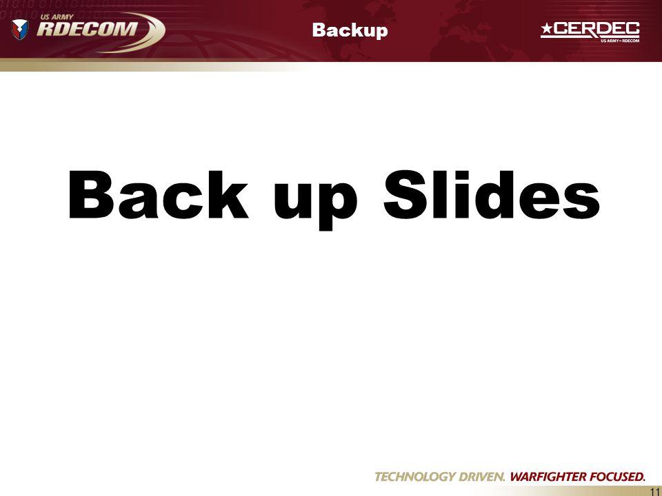 Backup Back up Slides