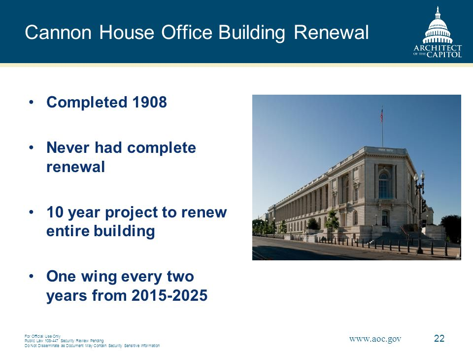 Cannon House Office Building Renewal
