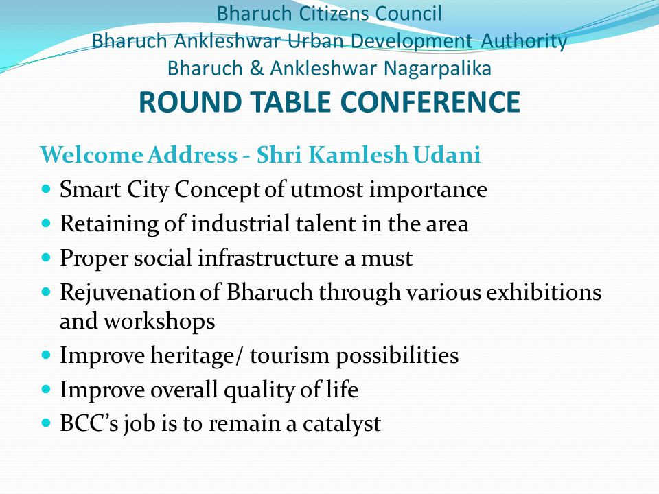 Welcome Address - Shri Kamlesh Udani